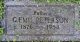 Carl Emil Peterson headstone